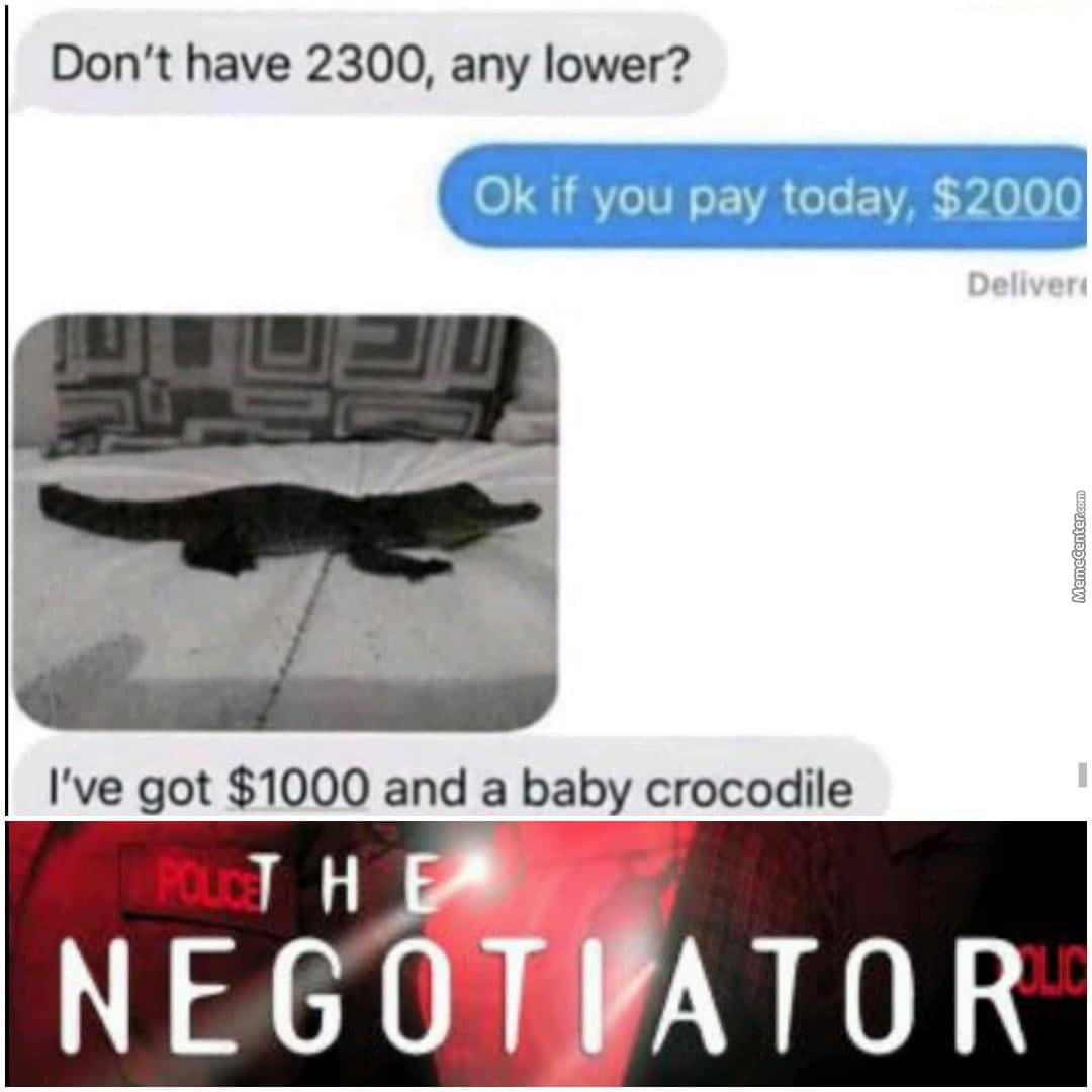 You Got Me At Baby Crocodile