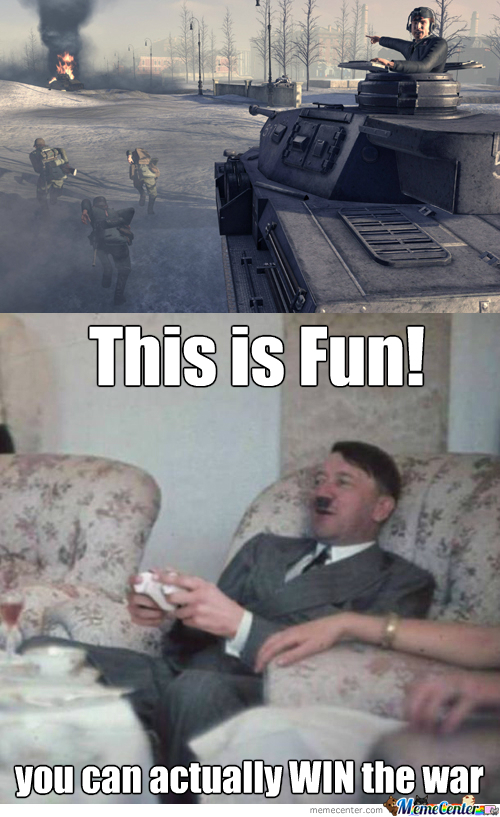 You Know It's A Worse Day When Hitler Is Sitting On Your Sofa Playing Video Games