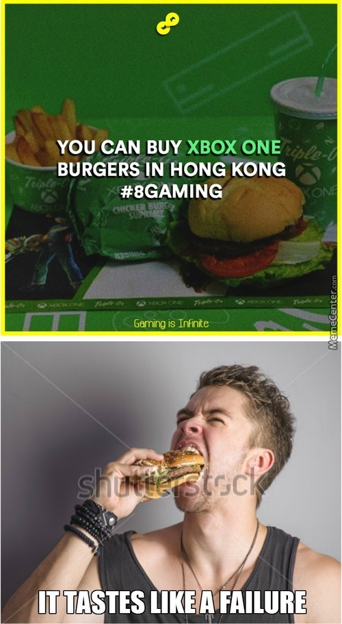 You Know It's A Xbox Burger When It Looks Like Shit