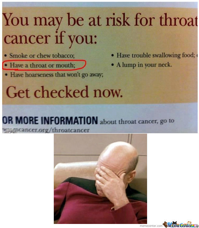 You May Be At Risk For Throat Cancer If...