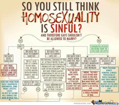 You Think Homosexuality Is Sinful?