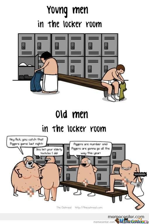 Young Vs Old In Locker Room (By Ben)