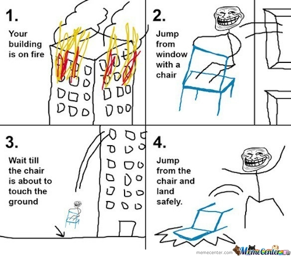 Your Building Is On Fire Troll Physics