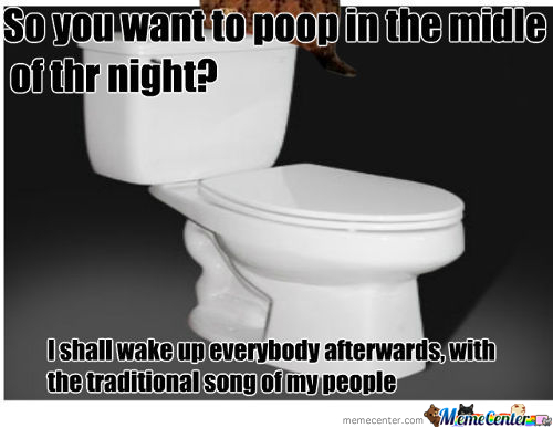Your People Must Be Proud, Toilet !