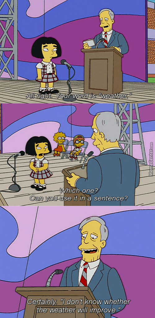 """Your Word Is """"weather"""" (Simpson)"""