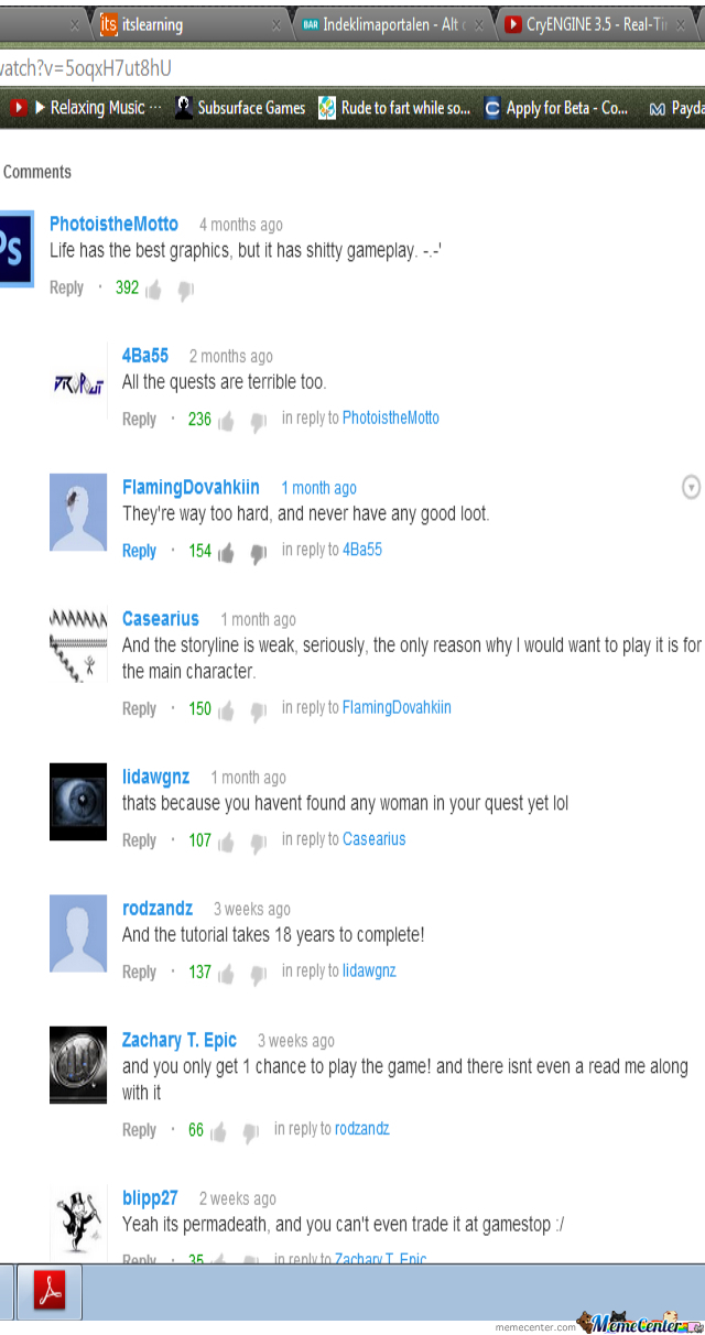 Youtube Comments By Daxe89 Meme Center