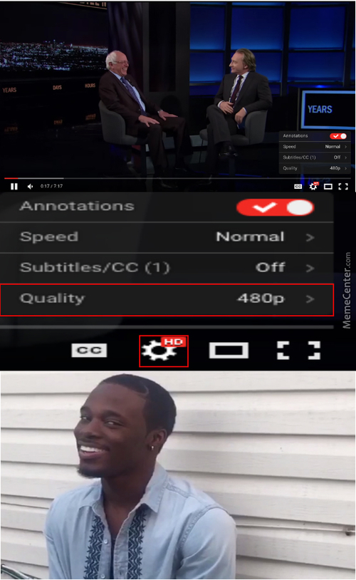 Youtube Thinks 480P Is Hd For Some Reason