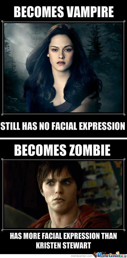 Zombies Has More Facial Expression
