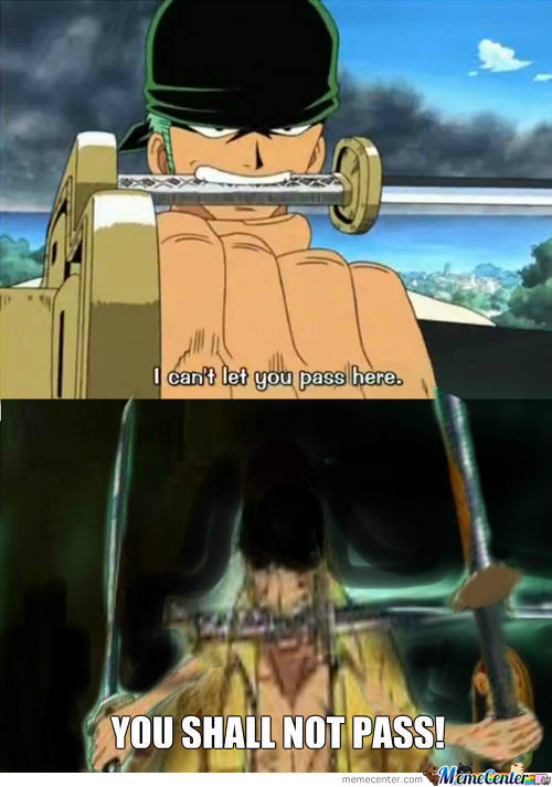 Zoro Cant't Let You Pass! (Awesome Photoshop Skills:d)